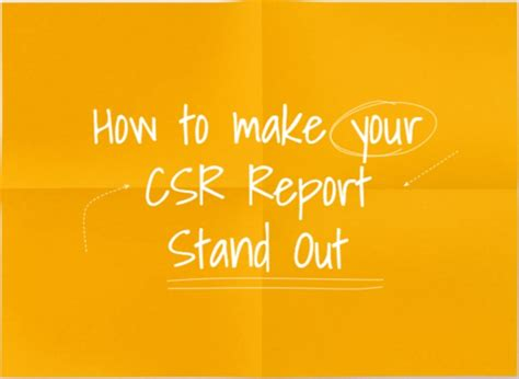corporate responsibility report stand