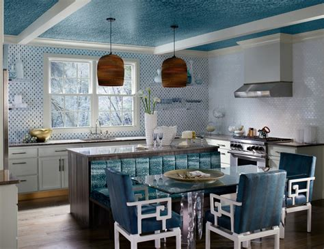 blue opulence kitchen kohler ideas