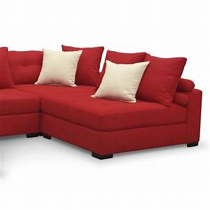 Venti 5 piece sectional red value city furniture for Red sectional sofa value city
