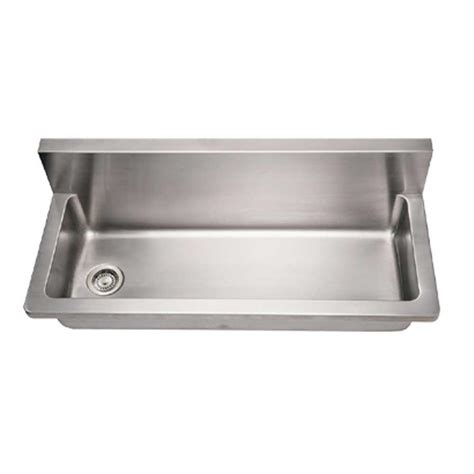 stainless steel wall mount commercial sink whitehaus collection noah 39 s collection wall mount brushed