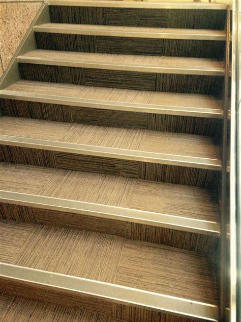 interface carpet tile  stair nosing