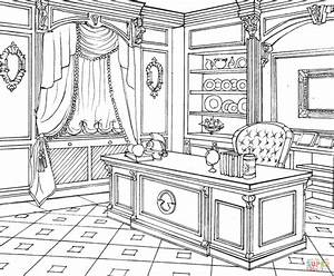 cabinet in classic interior design coloring page free With interior design coloring books