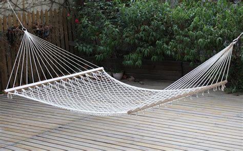 amaca da esterno giardini re amaca a rete doppia con asse in legno cm