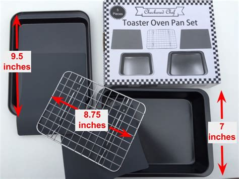 oven toaster bakeware accessories baking pans convection ovens trays mats nonstick checkered silicone chef rack includes piece