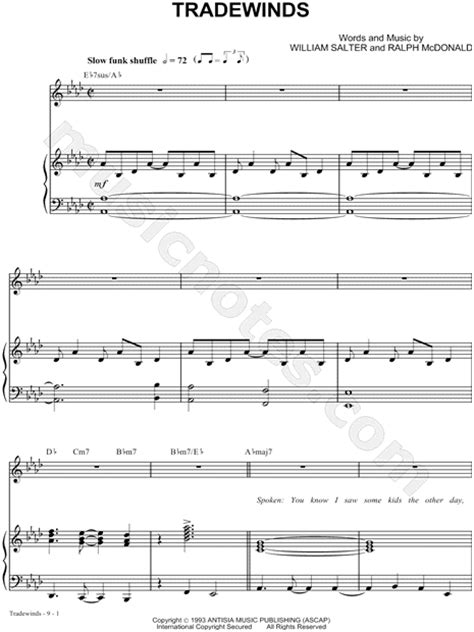 the winans quot tradewinds quot sheet music in ab major download