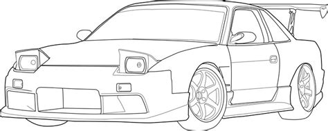 nissan skyline drawing outline s13 drifter by slidingmy240sx on deviantart