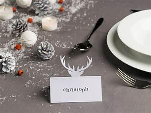 Tischdeko Weihnachten Selber Machen : die tischdeko im winter tischkarten selber basteln ~ Watch28wear.com Haus und Dekorationen
