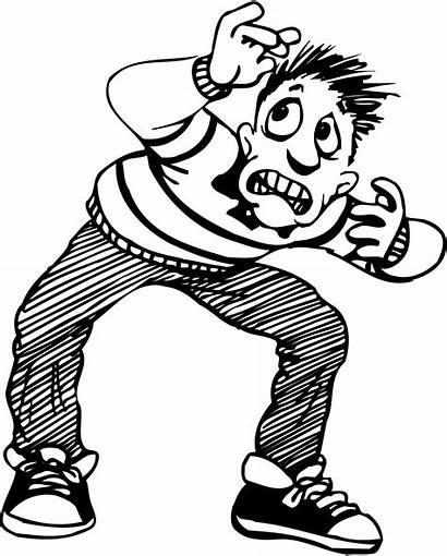 Scared Clipart Cartoon Clip Person Scare Cliparts