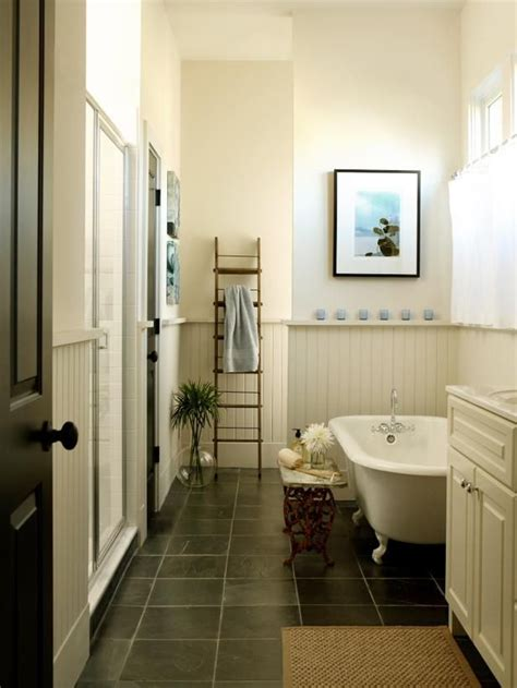 Bathroom Floor Design Ideas by Does Slate Work With Wainscoting Bathroom Redo 8x5