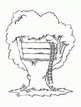 Coloring Tree Pages Magic Treehouse Printable Houses Buildings Architecture Popular Boys Drawing Bestcoloringpagesforkids sketch template