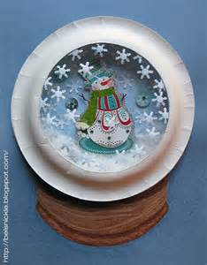 craft a christmas paper plate snow globe belznickle blogspot craft a christmas paper plate