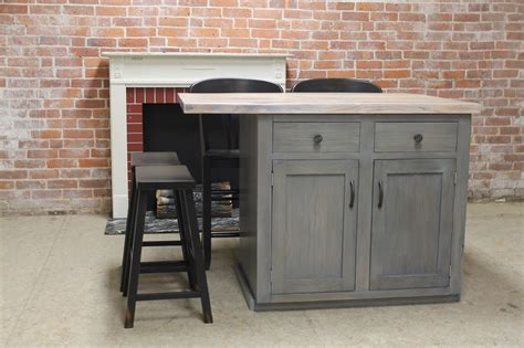 wood kitchen islands custom reclaimed wood kitchen island lake and mountain home 1145