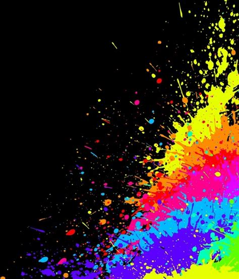 color paint splashes vector effects free vector in