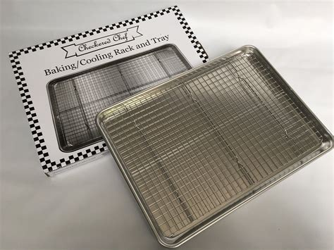 baking rack tray pan aluminum oven sheet cooling cookie half stainless steel chef checkered safe amazon
