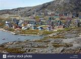 Apartment buildings, Qinngorput district, Nuuk, Greenland ...