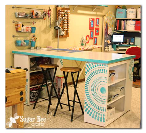 Craft Room Desk  Ah!!  Sugar Bee Crafts