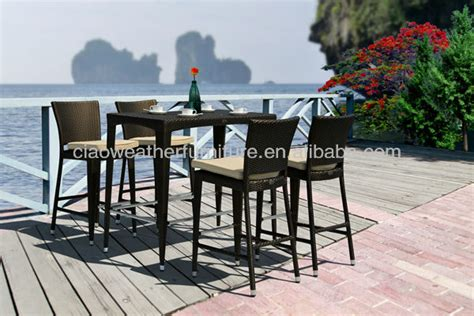 6 person outdoor high top bar tables and chairs view