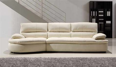 ascoli white leather sofa  seater modern style delux