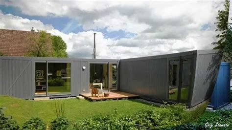 modern shipping container house  germany  floor plans    consideration