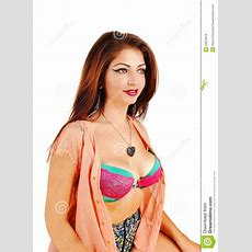 Girl With Open Blouse Royalty Free Stock Images  Image 33270019