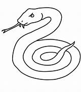 Snake Coloring Pages Printable Serpent Cobra Snakes Coloriage Realistic Sea Dessiner Animals Sheet Mamba Clipart Drawings Simple Line Dessin Jungle sketch template