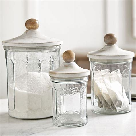 Glass Canisters by Fluted Glass Kitchen Canister Set
