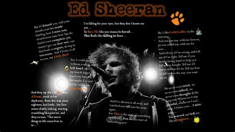 Ed Sheeran Lyrics Wallpaper
