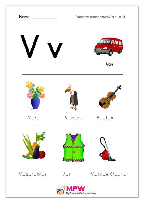 missing vowels worksheets      vowels worksheets  kindergarten