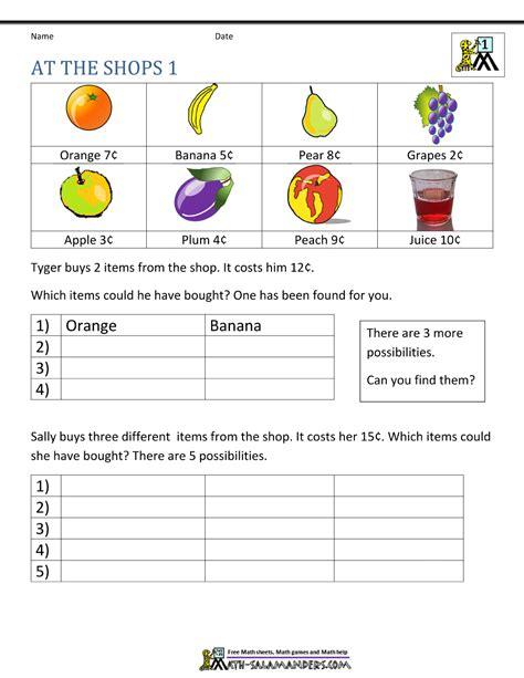 These printable 1st grade math worksheets help students master basic math skills. First Grade Math Problems