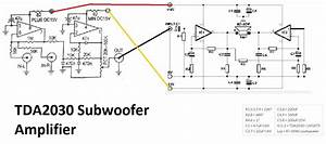 tda2030 make for subwoofer amplifier circuit electronic With tda2030 diagram