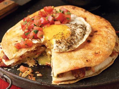 bacon  hash brown quesadilla  eggs recipe bobby