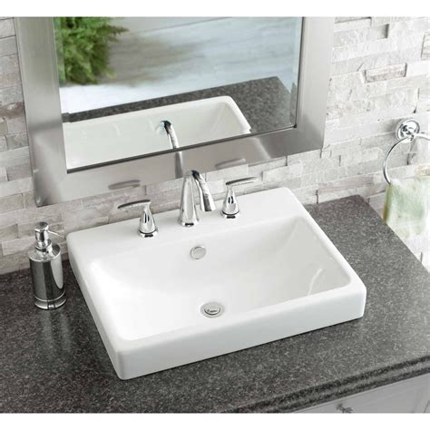 white porcelain bathroom sink rectangular bathroom sinks drop in creative bathroom