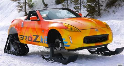 Nissan Car 370z Snow by Nissan 370zki Snowmobile Wordlesstech