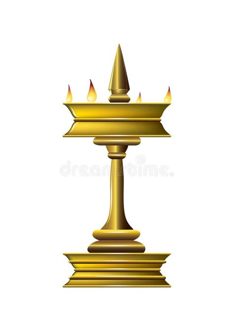 Oil Lamp Stock Vector Illustration Of Temple, Peace