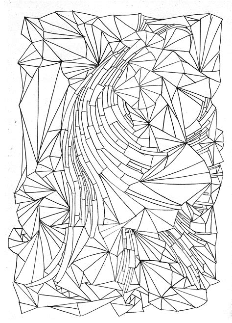 pattern coloring pages colouring designs thelinoprinter