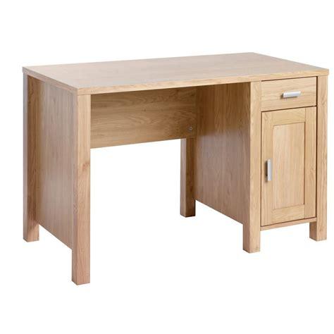 bureau desk office desk oak effect staples