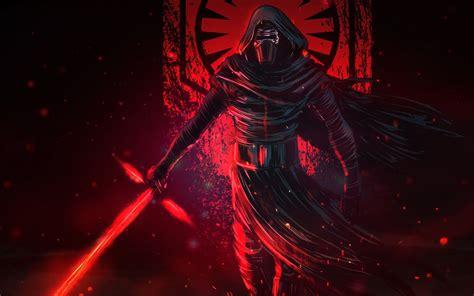kylo ren lightsaber star wars    wallpaper