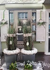 Eingangsbereich Außen Dekorieren : blog kwiaciarni pod t r 2015 marzec deko ostern deko deko fr hling und osterdeko ~ Buech-reservation.com Haus und Dekorationen