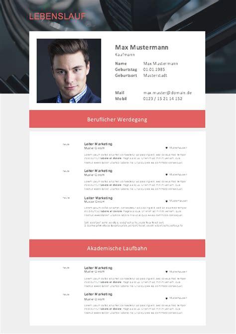 Bewerbungs Lebenslauf Vorlage by Muster Lebenslauf 2017 Resume Resume Resume Design