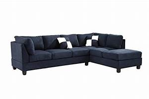 glory furniture g630 sc sectional sofa navy blue 2 boxes With navy blue microfiber sectional sofa