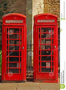 Two British Red Phone Booth Stock Image