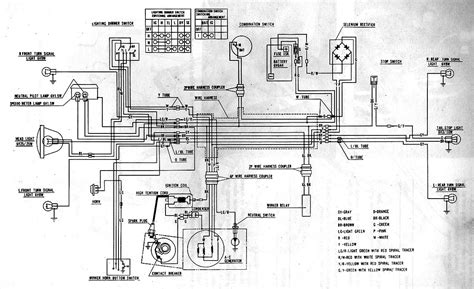 honda motorcycle cbf wiring diagram  circuit  wiring diagram