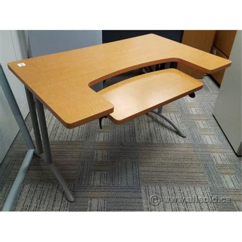 adjustable keyboard tray for desk maple 48 quot student workstation desk w adjustable keyboard