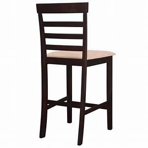 Table Et Chaise De Bar : acheter set table et 4 chaises de bar en bois coloris marron pas cher ~ Dode.kayakingforconservation.com Idées de Décoration