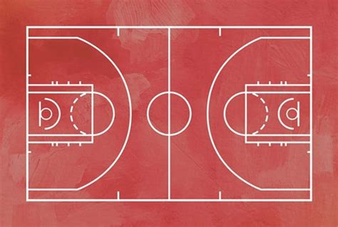 basketball court red paint background fine art print