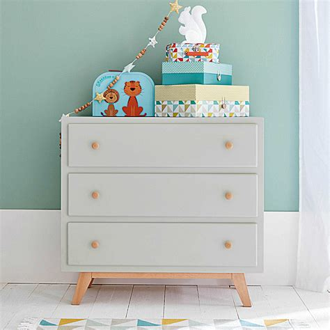 Commodes Grises by Commode 3 Tiroirs Grise Chambre D Enfant