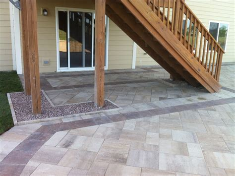 custom paver patio gallery conrades landscape design
