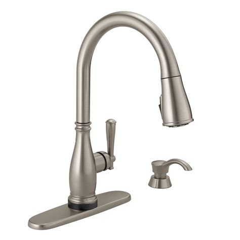 Touch2o Kitchen Faucet by Delta Charmaine Single Handle Pull Sprayer Kitchen