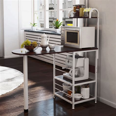 kitchen island metal dining baker cabinet basket storage