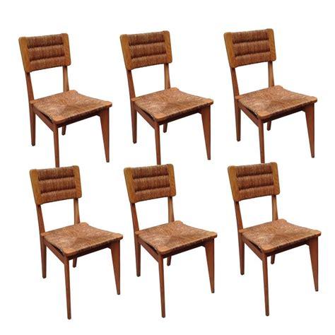 chaise design ée 50 6 chaises vintage paillées marcel gascoin ées 50